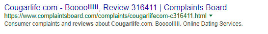 cougarlifereview-complaints-board