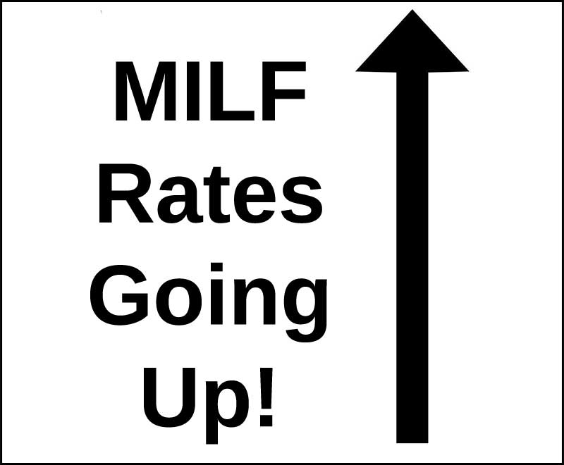 milf rates are on going up