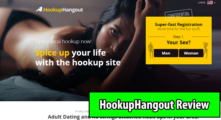 HookupHangout.com homepage